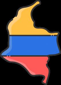 Mapa Colombia Color